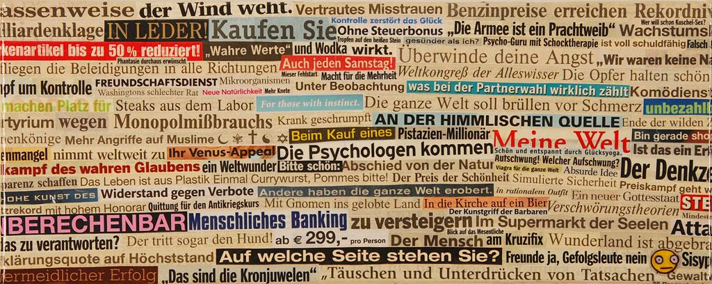 Das Medium als Wahnträger! Collage made by Falsch 2005